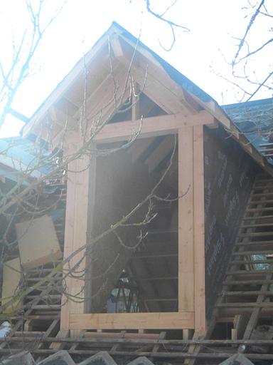 cr ation de lucarnes de charpente bois massif de eco2scop. Black Bedroom Furniture Sets. Home Design Ideas